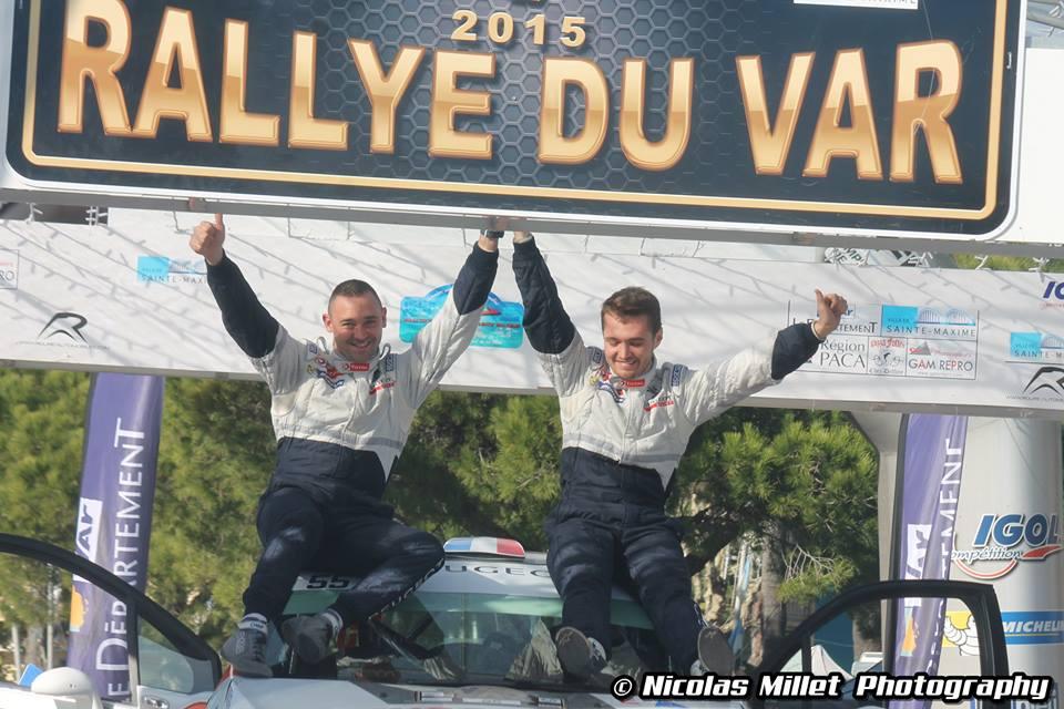 Podium Rallye du Var 2015